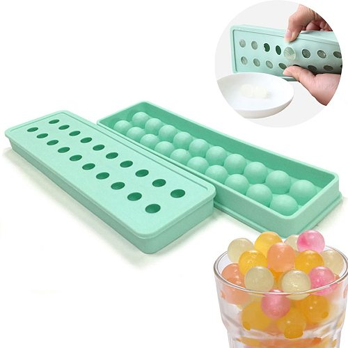 20 Cavity Mini Silicone Sphere Ice Cube Tray Mould Cube Round Ball DIY Bar Tools