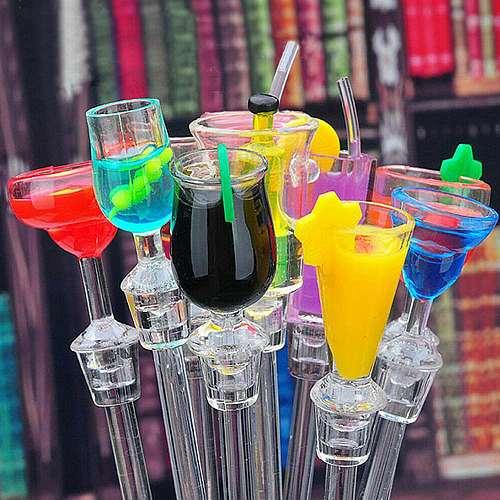 10Pcs/set Cute Cocktail Drink Mixer Bar Puddler Muddler Stirring Mixing Sticks Ladle Stirrer Swizzle Sticks Home Bar Supplies