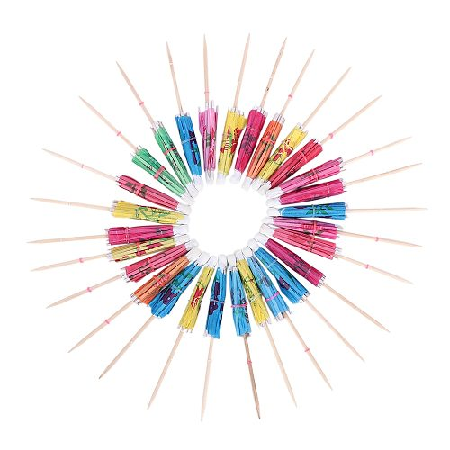 50Pc Bar Tool Cocktail Parasols Umbrellas Wedding Drink Stick Paper DIY Picks Cake Topper for Birthday Party Supplies