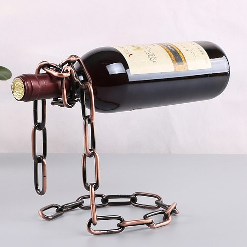 YES Magic Metal Hanging Suspension Chain Wine Racks European Retro Creative Handmade Restaurant Bar Stand Bracket Display Stand