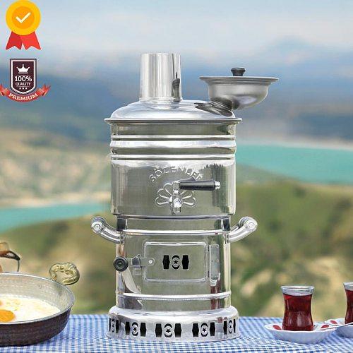 Kettle Tea Maker Camping Samovar Wood Stove Charcoal Travel Camping Equipment Kitchenaid bbq Outdoor Kitchen Tableware Utensils