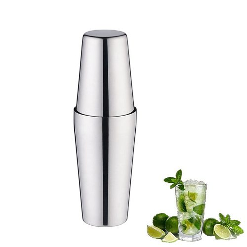 Cocktail Shakers Martini Steel Cocktail Shaker Mixer Wine Boston Shaker For Bartender Drink Party Bar Tools 750+600ML