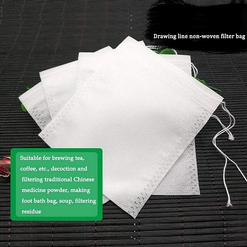 100/500/1000/2000pcs Teabags Empty Scented Tea Bags With String Heal Seal Filter Paper For Herb Loose Tea Bolsas De Te