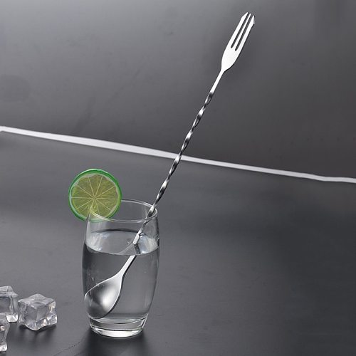 Stainless steel Bar Spoons Cocktail Drink Mixer Muddler Stirring Mixing Stir Spoon Ladle Cocktail Shaker Spoon Bar Tool
