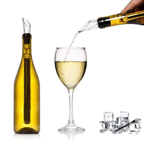 1Pc Stainless Steel Wine Chiller Stick With Wine Pourer Wine Cooling Stick Cooler Beer Beverage Frozen Stick Ice Cooler Bar Tool