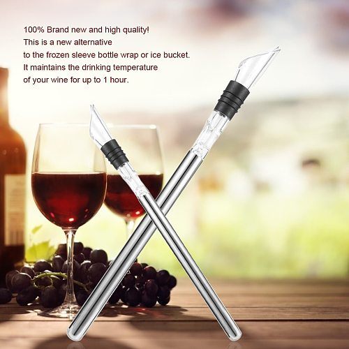 Stylish Arrival Rushed Ice Bucket Stainless Steel Barware Wine Pourer With Chill Rod Bottle Coolers Chiller Stick Spout Aerator