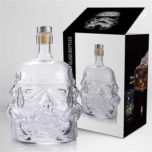 Skull Wine Shot Glass 600ml Whiskey Glass Vodka Wine Decanter Double-layered Glass Cocktail Set Wine Decanter Home Wineglass