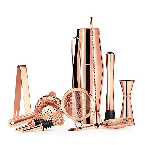 2020 New Arrivals 11 Piece Bartender Kit Cocktail Boston Shaker Barware Set Includes 28 and 18  2020 Top Seller OZ