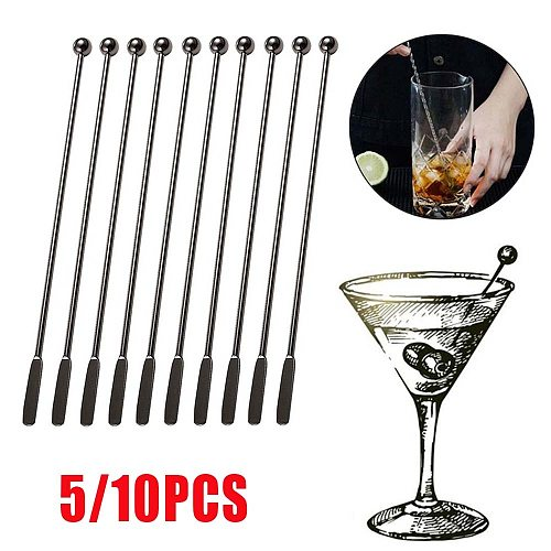 19cm Stainless Steel Creative Mixing Cocktail Stirrers Sticks for Wedding Party Bar Swizzle Drink Mixer Bar Muddler