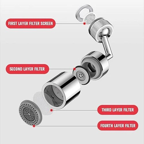 720 Degree Rotating Kitchen Faucet Aerator Water Filter Diffuser Water Saving Nozzle Faucet Bath Connector Attachment For Crane