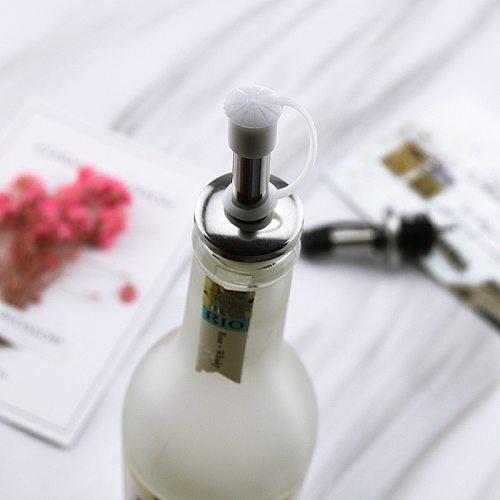 Wine Pourer Whisky Liquor Stainless Steel Oil Wine Bottle Pourer Cap Spout Stopper Mouth Dispenser Bartender Kitchen Bar Tools