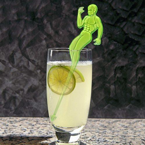 10 Pcs Muscle MAN Cocktail Swizzle Sticks Drink Wine Stirrer Wine Coffee Tea Muddler Puddler Bar KTV Home Party Decoration