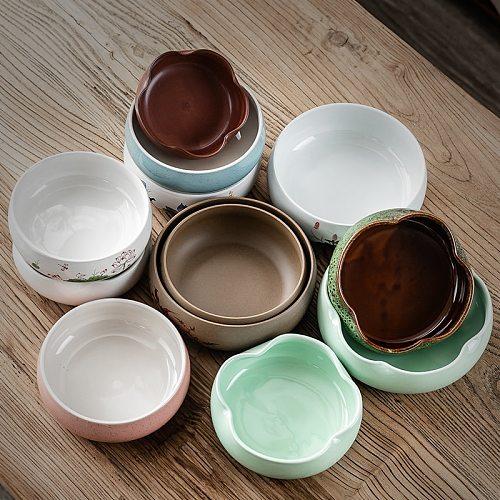 Large Ceramic Multifunctional Tea Wash Household Hydroponic Basin Flowerpot Water Bowl Wash Ceramic Tea Set Accessories