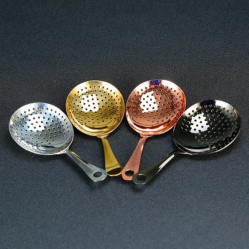 Julep Bar Cocktail Strainer 304 Stainless Steel Copper Plated Gold Plated Black Bar Tool Barware
