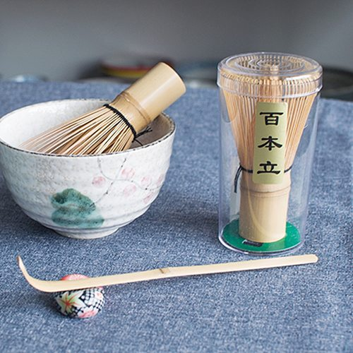 1PC Bamboo Japanese Style Powder Whisk Green Tea Preparing Matcha Brush