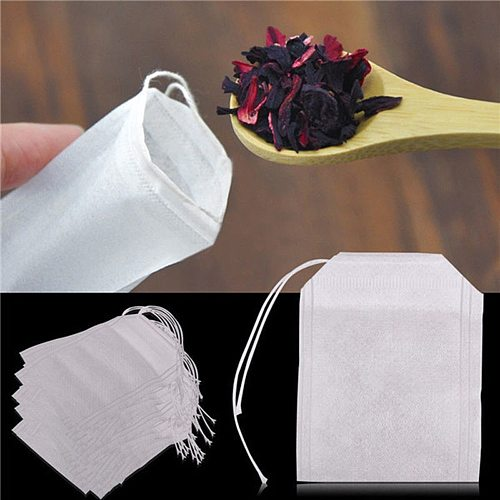 100/50/20Pcs-/pack Teabags 5.5 x 7CM Empty Scented Tea Bags With String Heal Seal Filter Paper for Herb Loose Tea Bolsas de te
