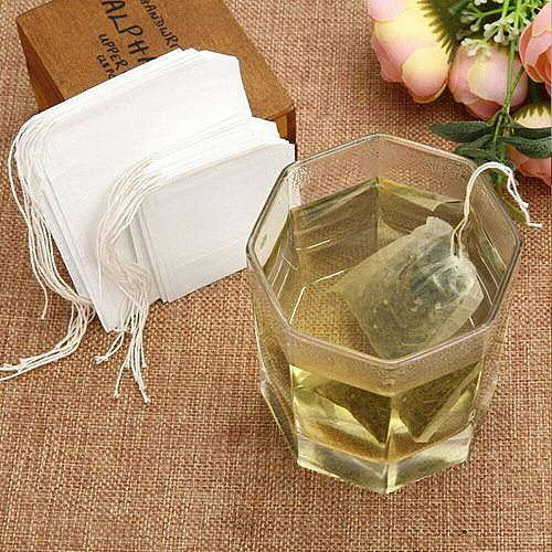 500Pcs Teabags 7 x 9 CM Empty Tea Bag With String Heal Seal Filter Infuser Strain for Green Tea Disposable Fabric Bags