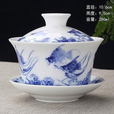 2020 Hot Hand Painted Jade Porcelain Peach Blossoms Ceramic Gaiwan Chinese Teaset Teaware Tureen Sancai Tea Cup Pu'er Kettle
