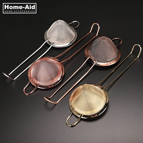 Stainless Steel Julep  Wire Fine Mesh Oil hawthorn Copper Cocktail Strainer High Quality Sieve Colanders DIY Kitchen Tools