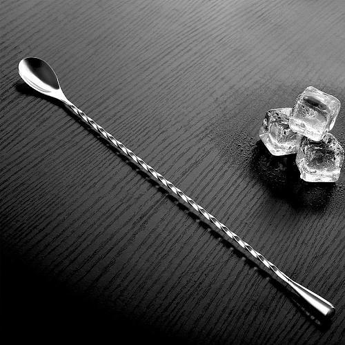 Steel Water Drop Bar Spoon Fine Thread Bar Spoon Cocktail Stirring Bartending Bar Teardrop Bar Mixing Spoon