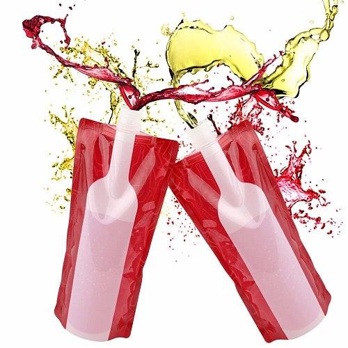 Wine Bag Unbreakable Flask Travel Gear Accessories Bag Plastic Foldable Reusable Portable Wine Bottle Bag