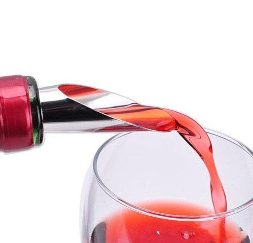 New Qualified Liquor Spirit Pourer Flow Wine Bottle Pour Spout Stopper Stainless Steel Cap red wine Stopper Dropship#30