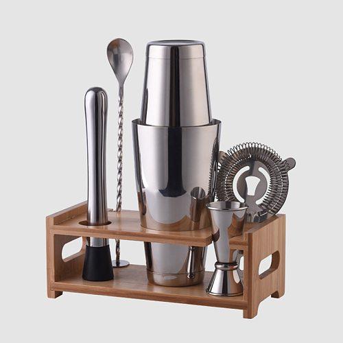 Wine Coctelera Batidora Boston Recipe Mixer Shaker Bartender Barware Kit Kitchen Bar Tools Stainless Steel Cocktail Shaker Set