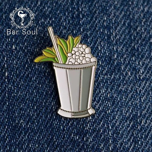 Bar Soul Bartender Badge Japanese Brooch Cocktail Badge Exquisite Professional Bartender Trinket Symbol Of Bartender