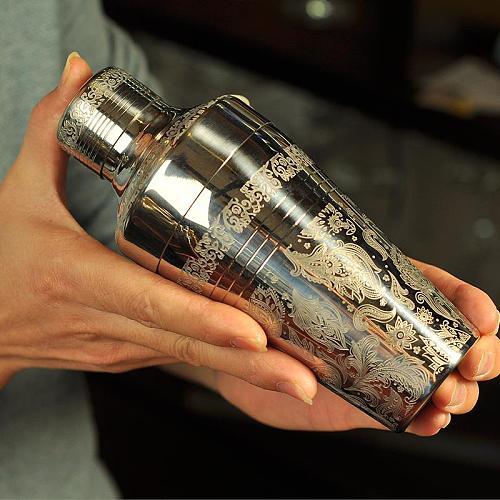 410ml Japanese Style Stainless Steel Cocktail Shaker Bar Shaker Bartender Tool Bar Tool