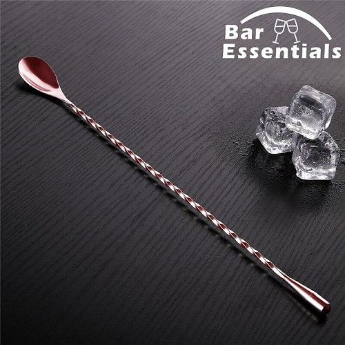 Cocktail Spoon Bar Spoon Stainless Steel Mixing Cocktail Spoon Teadrop Spoon Stir Spoon Bar Tool Bartender Tools