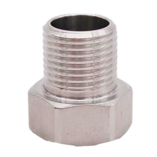 Stainless Steel 5/8  Female BSP x 1/2  Male NPT/BSP Adapter Homebrew Hardware