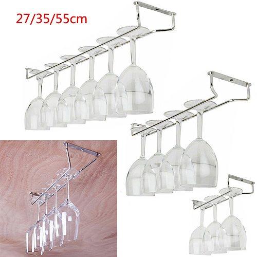 27 35 55cm Stainless Steel Wine Glass Rack Hanging Stemware Holder Hanger Shelf Home Bar
