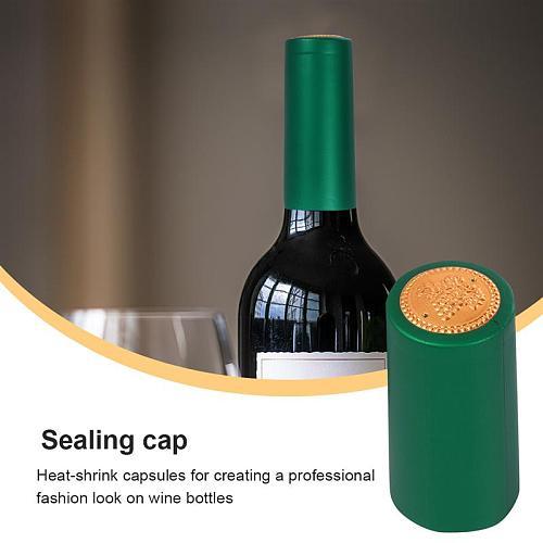 100pcs Heat Shrink Film Sealing Cap Wine Bottle Film Wine Heat Shrinkable Cap