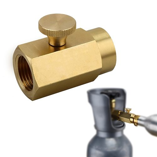Soda Bottle Cylinder Convert Kit Brass Adapter for Refill Co2 Gas, Soda Inflatable Valve Connector for Interface W21.8 / CGA320