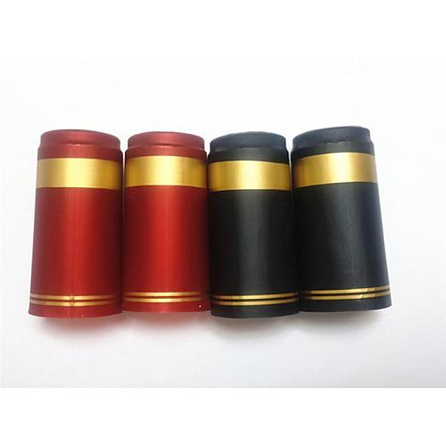 100pcs Heat Shrink Capsules Wine Bottle Capsules Wine Heat Shrinkable Cap Wine Shrink Film Wrap for Straight Mouth Bottle