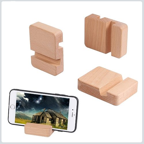 Wooden Tablet Holder Stand Compatible with Apple iPad, Samsung Galaxy Kindle Tablets Phone Bracket Bracket Bracket Lazy Stand
