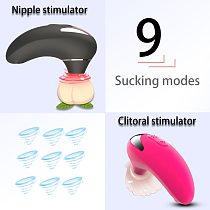 HWOK Oral Sucking Vibrator 9 Speeds Licking Vibrating Sex Toys for Women Tongue Nipple Clitoral Stimulator Female Masturbation