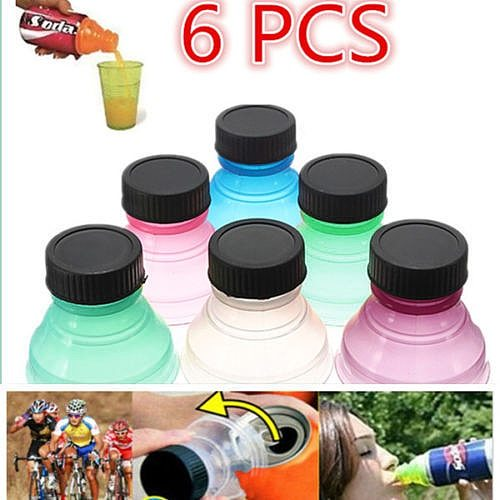 6/12Pcs Bottle Top Lid Soda Saver Pop Beer Beverage Can Cap Top Cover Flip Protector Snap On Wine Bottle Stopper