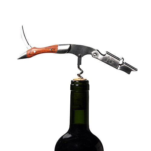 Waiters Corkscrew, Professional All-in-one Wine Opener, Bottle Beer Cap Opener with Foil Cutter The Favored Choice of Sommeliers
