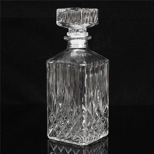 900ml Vintage Decanter Glass Liquor Whiskey Crystal Bottle Wine Stopper Scotch