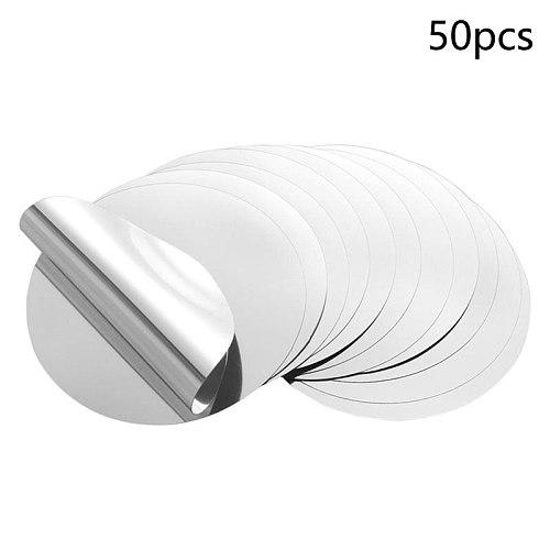 50Pcs 3inch Silver Wine Pourer Disk Drip-proof Drop Drip Stop Pouring Pour Spout