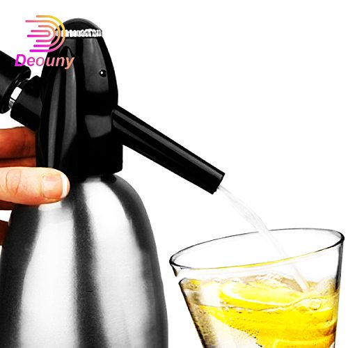 DEOUNY Soda Water Siphon Ultimate Aluminum For Soda Maker 1 Liter Make Soda Infusions Uses Standard Adapter Co2 Bar Home Tools