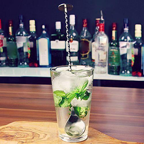 High Quality Stainless Steel Cocktail Bar Spiral Pattern Drink Shaker Muddler Stirrer Twisted Mixing Spoon Kitchen tableware
