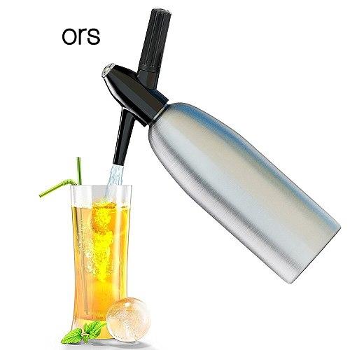 Professional Soda Water Siphon 1L Aluminum CO2 Sparkle Soda Maker Bar Tools