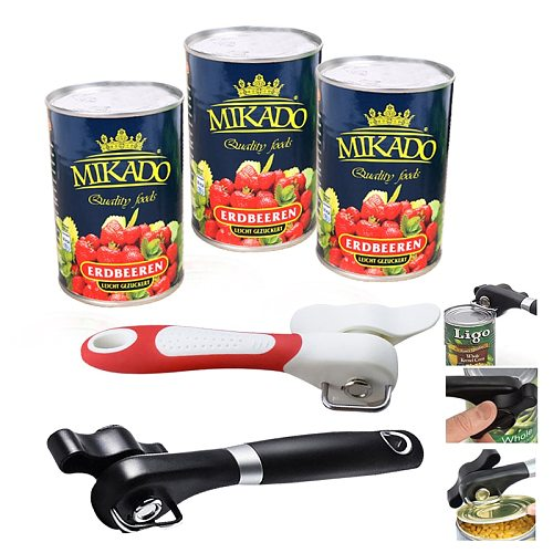 Safety Plastic Knife for Cans Lid Professional Side Cut Easy Grip Manual Opener Hand-actuated Can Opener Kitchen Tool