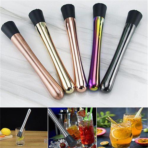 Cocktail Muddle Stainless Steel Bar Mixer Ice Crushing Tools DIY Drink Fruit Mojito Cocktail Muddlers Crusher Barware Bar Tool