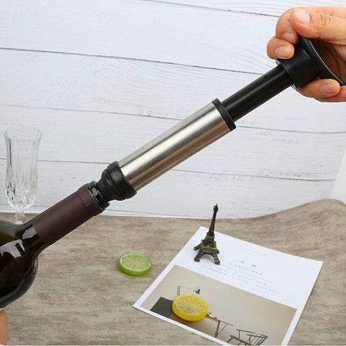 Vacuum Wine Pump Bottle Corks Stopper Bar Vacuum Caps Hat Preserver Wine Drinks Bar Accessories