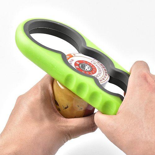 1Pc Can Jar Lid Opener Multi Purpose Non-slip Twist Cap Bottle Launcher Grip Wrench Screw Jam Bottle Opener Kitchen Gadge