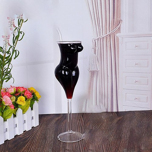 Creative Body Shape Glass Cup Whiskey Glasses Wine Shot Glass Cup Sexy Lady Men Body Shape Chest Beer Cup for Vodka Whiskey Beer