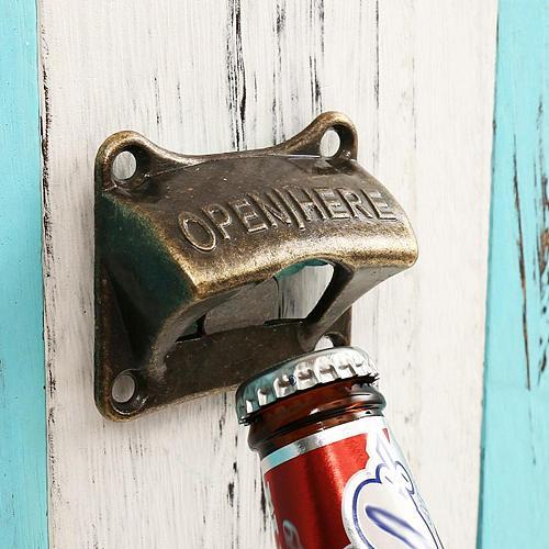 Bottle Opener Vintage Bronze Wall Mounted Wine Beer Opener Durable Rustic Cast Soda Bottle Cap Opener Bar Accessories